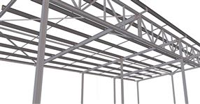 Ocelová konstrukce přístřešku