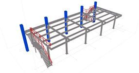 Ocelová konstrukce plošiny