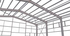 Steel structure of the garage hall