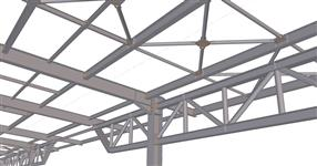 Steel structure of the warehouse extension