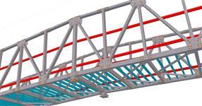 Ocelová konstrukce lávky pro pěší