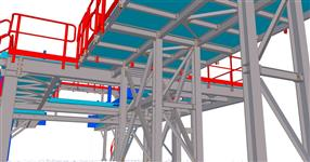 Steel construction of technological platforms