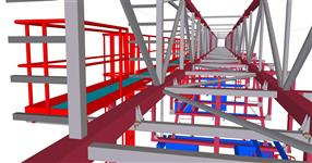 Reconstruction of the steel structure of the technological bridge