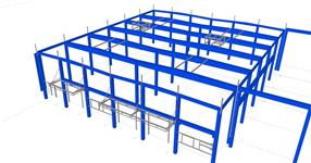 Auxiliary steel structures for the reinforced concrete skeleton of the veterinary clinic