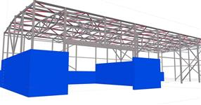 Steel structure of the waste management operation hall