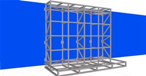 Steel structure for advertising banner