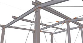Steel structure of the extension of the heating plant operation hall
