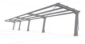 Steel structure of the bicycle shed