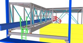 Steel structure of the extension of shipping containers