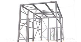 Steel structures of the substation extension