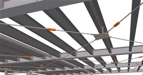 Steel structure of the superstructure of the office building