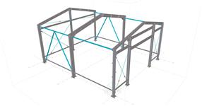 Steel structure of a small warehouse