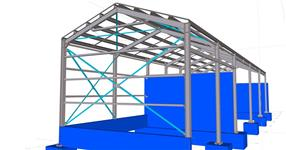 Steel structure of the storage shed