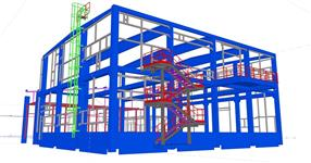 Auxiliary steel structures for reinforced concrete warehouse skeleton