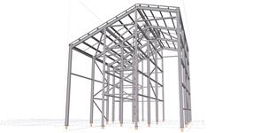 Steel structure of the hall of the post-harvest grain line