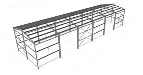 Steel structure of the warehouse hall