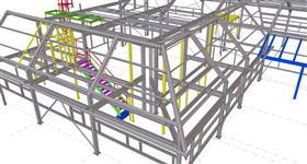 ocelová konstrukce výrobní haly pro strojírenskou výrobu