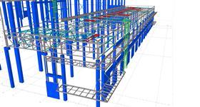ocelová konstrukce střechy výrobního komplexu