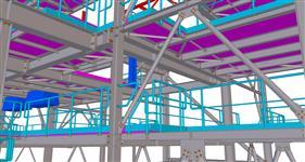 ocelová konstrukce pro technologické zařízení