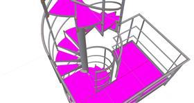 konstrukce točitého schodiště u zásobníku plynu