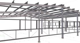 steel structure for warehouse extension