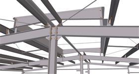 ocelová konstrukce prodloužení skladovací haly