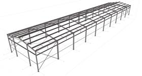 steel structure of the agro warehouse