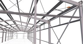 ocelová konstrukce skladovací zemědělské haly