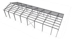 steel structure of the workshop