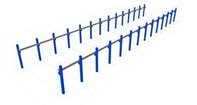 konstrukce nosníků jeřábové dráhy na železobetonovém skeletu
