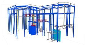 rekonstrukce ocelové konstrukce haly energetického objektu
