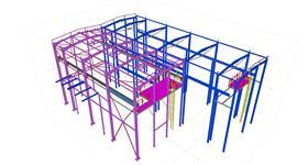 ocelová konstrukce přístavby haly energetického objektu