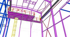 steel construction of building extension