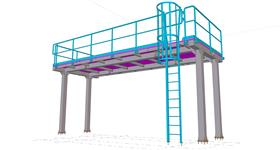 steel structure of the platform for technological device
