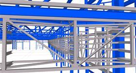 konstrukce pro energetické rozvody výrobního komplexu