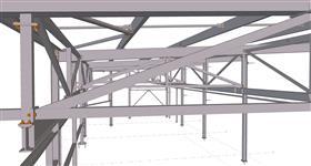 ocelová konstrukce přístavby haly pro strojírenskou výrobu