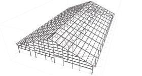 ocelová konstrukce zemědělské haly pro chov skotu