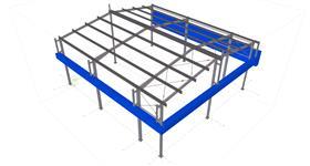 ocelová konstrukce skladovací haly