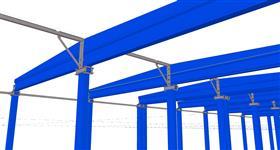pomocné ocelové konstrukce pro železobetonový skelet budovy pro energetické účely