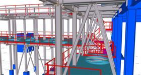 ocelové konstrukce skeletu pro instalaci technologie energetického zařízení