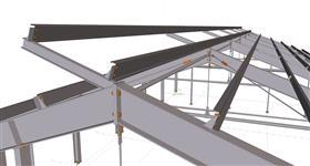 ocelová konstrukce prodloužení výrobní haly