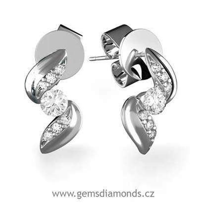 5f2b2c58d Luxusní náušnice s diamanty Julie, bílé zlato   Pretis s.r.o.
