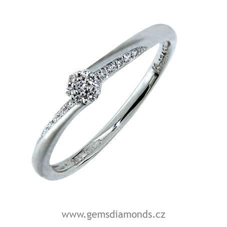 Prsten S Diamantem Bile Zlato 386 0738 Gems Saskie Pretis S R O