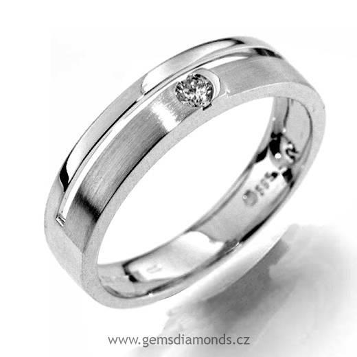 Gems Sperk S Diamantem Zasnubni Prsten Bile Zlato 386 1183 Pretis