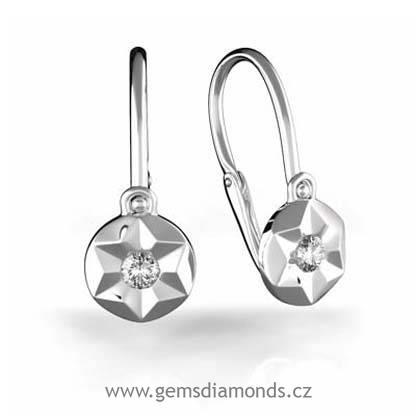 b8f00782f Dětské náušnice s diamanty Betty, bílé zlato Gems   Pretis s.r.o.