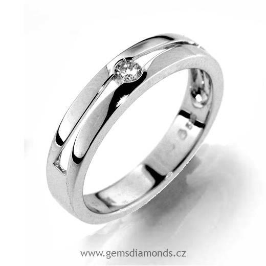 Sperk Gems S Diamantem Zasnubni Prsten Bile Zlato 386 1190 Pretis