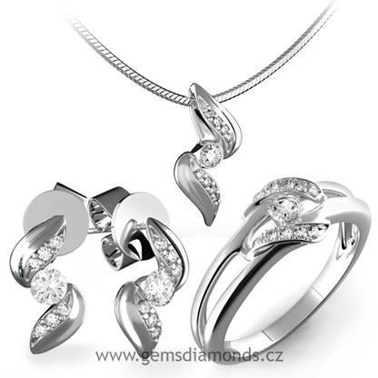 b0cd0a5d3 Luxusní souprava s diamanty Julie, bílé zlato   Pretis s.r.o.