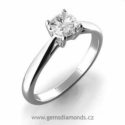 Gems Zlaty Sperk Prsten S Diamantem Viola Bile Zlato 386 0210