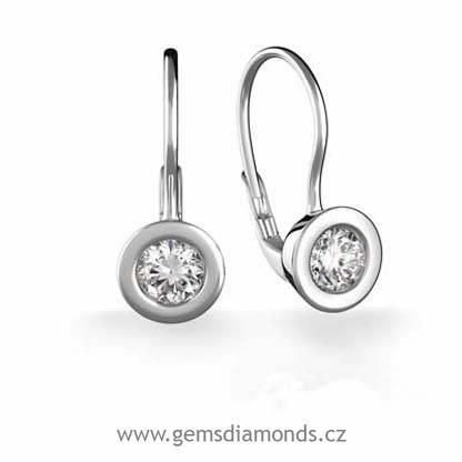 55133f5b6 Luxusní náušnice s diamantem Evelína, bílé zlato | Pretis s.r.o.