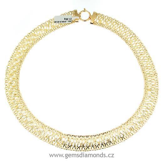 b3b0ea807 zlatý dámský náhrdelník žluté zlato | Pretis s.r.o.